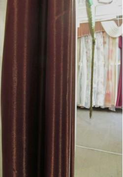 шторная ткань монорей темно-коричневая 135
