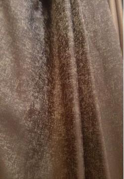 портьера жаккардовая темно-коричневая 496