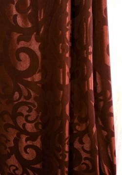 штора жаккардовая вензель темно-коричневая 638