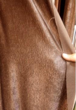 шторная ткань жаккардовая коричневая 664