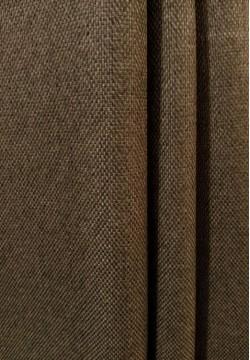 штора блэкаут мешковина темно коричневая 706