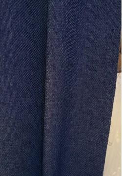 штора блэкаут мешковина цвет синий 767