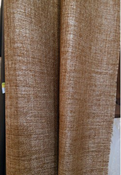 штора блэкаут мешковина коричневая 772