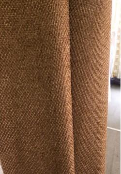 штора блэкаут мешковина коричневая 792