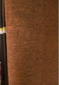штора блэкаут мешковина коричневая 796