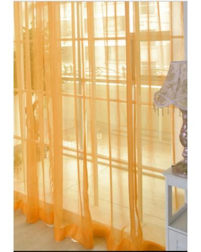 тюлевой шифон однотонный оранжевый 272